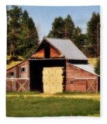 Whitefish Barn Fleece Blanket