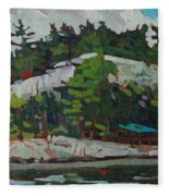 Whitefish River Cottages Fleece Blanket