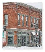 Whitehouse Ohio In Snow 7032 Fleece Blanket