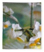 Whiteness In The Vase Fleece Blanket