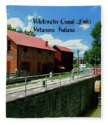 Whitewater Canal Locks Fleece Blanket
