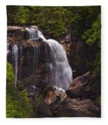 Whitewater Falls Nc Fleece Blanket