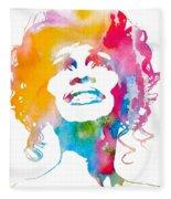 Whitney Houston Fleece Blanket