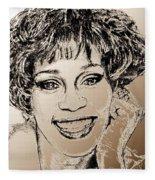 Whitney Houston In 1992 Fleece Blanket