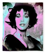 Whitney Houston Sing For Me Again Fleece Blanket