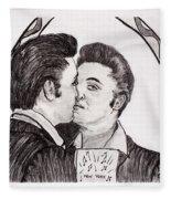 Elvis Who Loves Ya Baby? Fleece Blanket