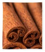 Whole Cinnamon Sticks  Fleece Blanket