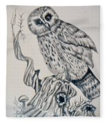 Whooo Are You Fleece Blanket