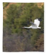 Whooping Crane Fleece Blanket
