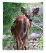 Who's There? Fleece Blanket
