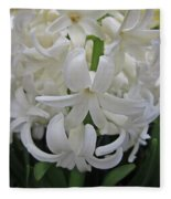 Whte Hyacinth Fleece Blanket