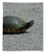 Why Did The Turtle Cross The Road Fleece Blanket