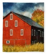 Why Do They Paint Barns Red? Fleece Blanket