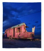 Why Pink Airstream Travel Trailer Fleece Blanket