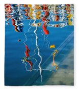 Wibbly Wobbly Flagpole Reflections Fleece Blanket