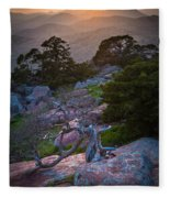 Wichita Mountains Sunset Fleece Blanket