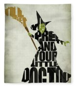 Wicked Witch Of The West Fleece Blanket
