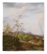 Wide Landscape With Shepherds Fleece Blanket
