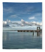 Wide View Of Kingscote Bay Fleece Blanket