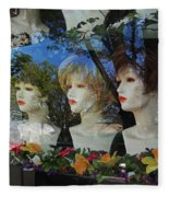 Wig Shop Window Fleece Blanket