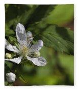 Wild Alabama Blackberry Blossom Fleece Blanket