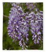 Wild Alabama Wisteria Frutescens Wildflowers Fleece Blanket