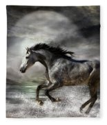 Wild As The Sea Fleece Blanket