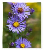 Wild Aster Trio Fleece Blanket