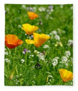 Poppies 3 - Wild At Heart Fleece Blanket