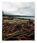 Wild Beach New Zealand Fleece Blanket