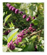 Wild Beautyberry Bush Fleece Blanket
