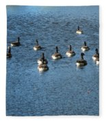 Wild Birds And Pond Fleece Blanket