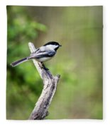 Wild Birds - Black Capped Chickadee Fleece Blanket