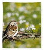 Wild Birds - Field Sparrow Fleece Blanket