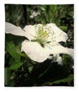 Wild Blackberry Blossom Fleece Blanket