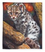 Wild Cat Fleece Blanket