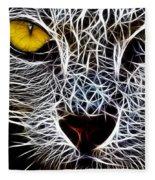 Wild Cat Fleece Blanket