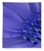Wild Chicory Macro Fleece Blanket