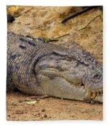 Wild Croc #2 Fleece Blanket