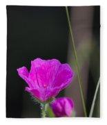 Wild Flower Bloody Cranesbill Fleece Blanket