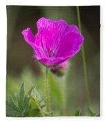 Wild Flower Bloody Geranium Fleece Blanket