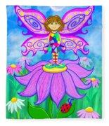 Wild Flower Fairy  Fleece Blanket