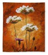 Wild Flowers 041 Fleece Blanket