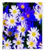 Wild Flowers 3 Fleece Blanket