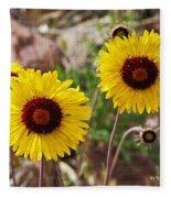 Wild Flowers Above The Rim Fleece Blanket