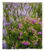 Wild Flowers Display Fleece Blanket