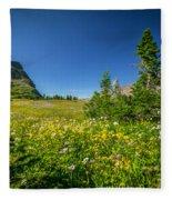 Wild Flowers Glacier National Paintedpark   Fleece Blanket