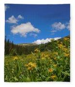 Wild Flowers In Rocky Mountain National Park Fleece Blanket