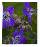Wild Geranium Fleece Blanket