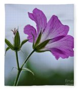 Wild Geraniums Fleece Blanket